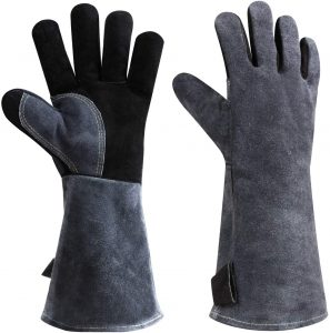Ozero Leather Heat Resistant BBQ Glove